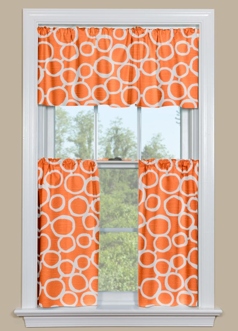 kitchen valance ideas faucets at menards orange curtains |