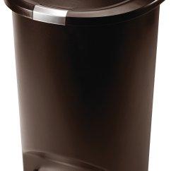 Red Kitchen Trash Can 60 40 Sink Ideas