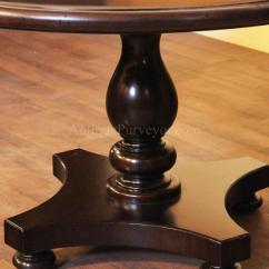 Round Pedestal Kitchen Table Natural Pine Cabinets Photo 5 Ideas