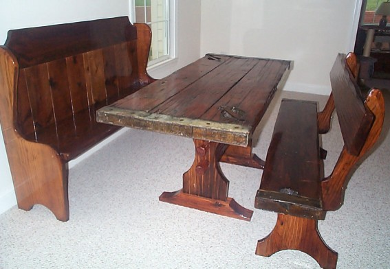 Small kitchen table with bench Photo