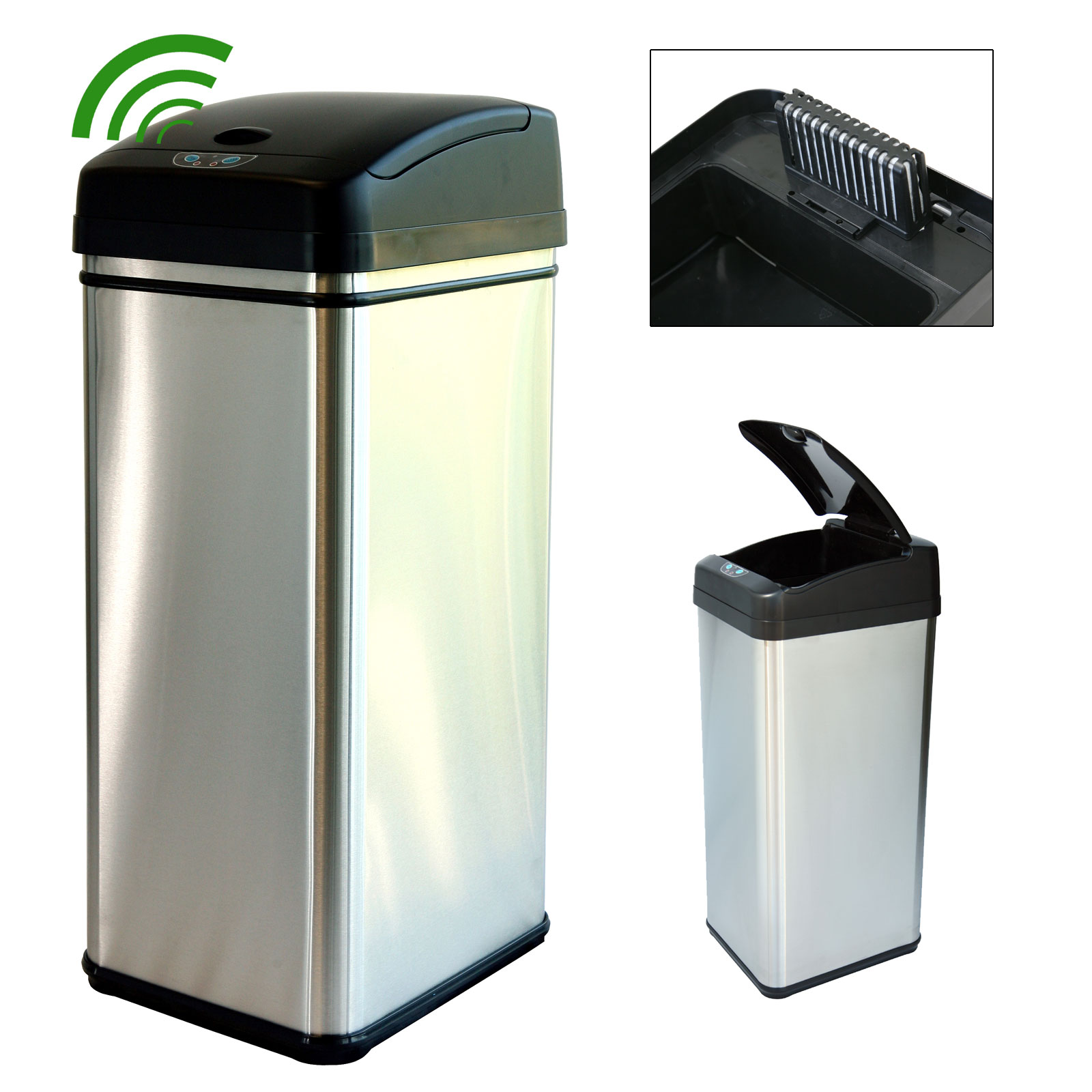 kitchen stainless steel trash can quality cabinets garbage ideas
