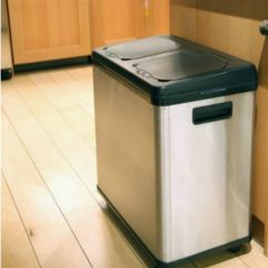 Stainless Steel Kitchen Trash Cans Kohler Barossa Faucet Garbage Can For Ideas