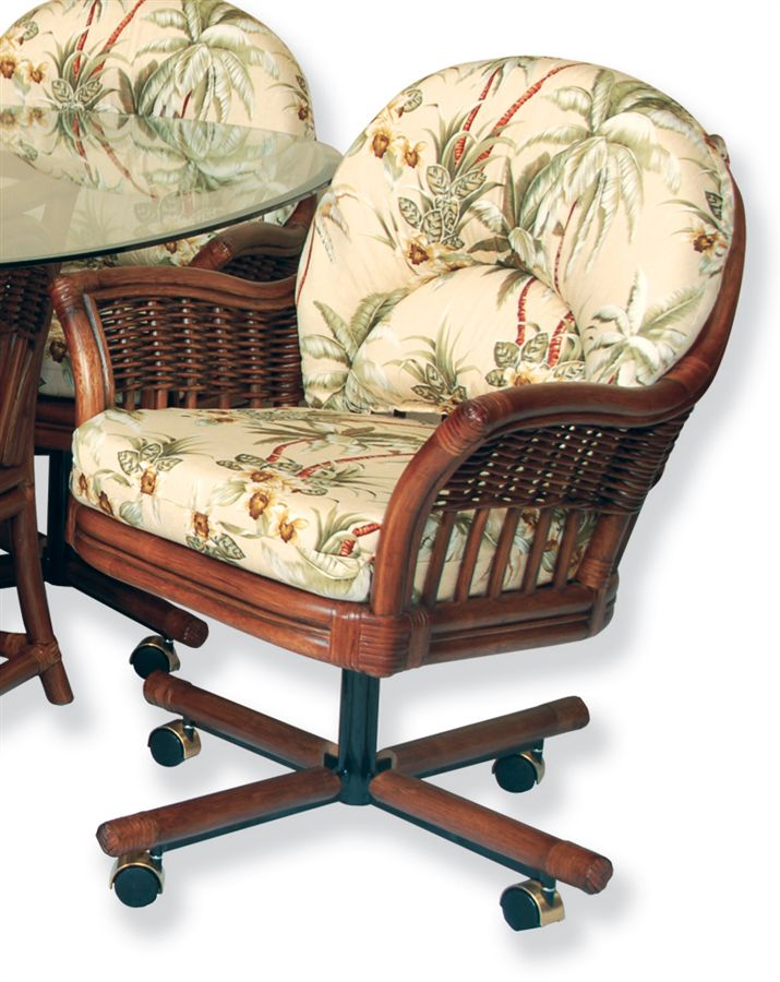 Swivel kitchen chairs with casters