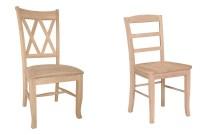 Unfinished wood kitchen chairs | | Kitchen ideas