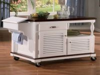 White kitchen island on wheels | | Kitchen ideas