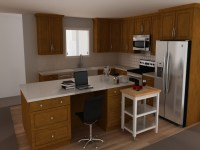 White kitchen island with stainless steel top | | Kitchen ...