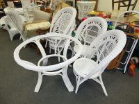 Wicker kitchen table and chairs