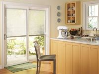 Window treatments for sliding glass doors in kitchen ...