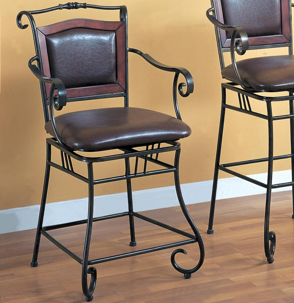 white wrought iron kitchen chairs oxo sprout high chair decor ideas
