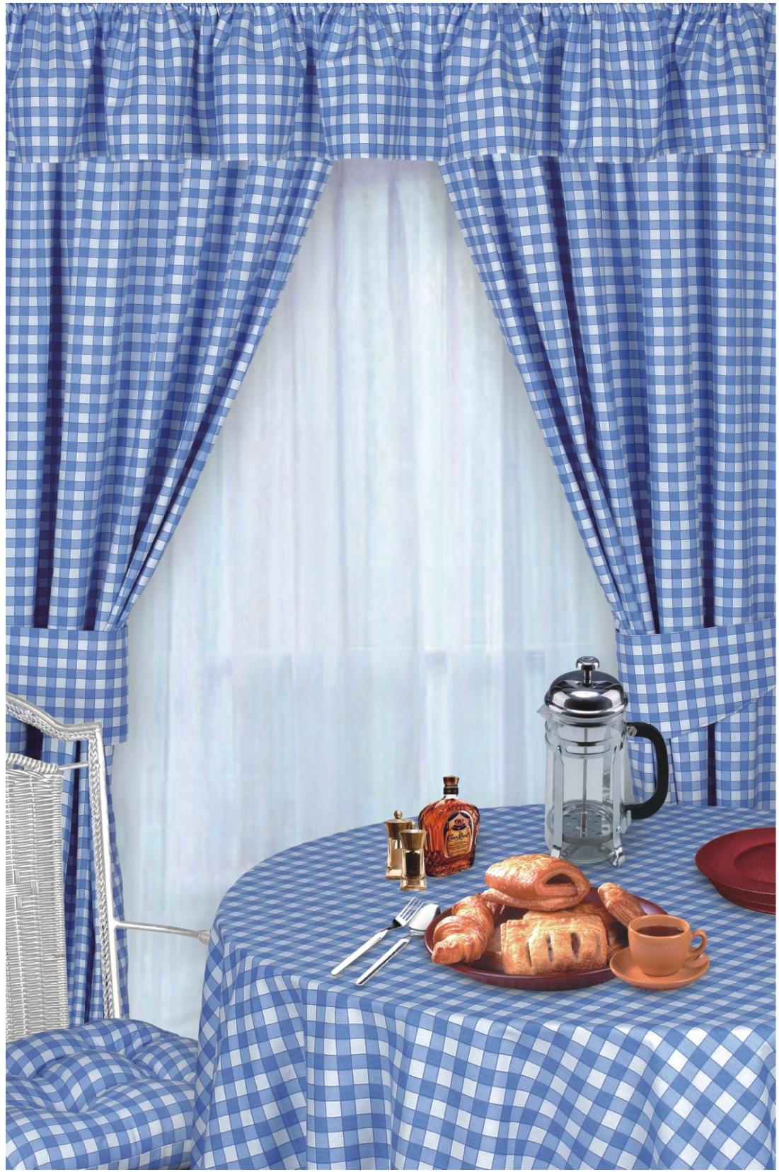 yellow and red kitchen curtains remodel cost blue photo 5 ideas