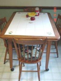 Ceramic tile kitchen table | | Kitchen ideas