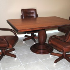 Dining Chairs On Casters Dental Chair Accessories India Kitchen Dinette Sets With | Ideas