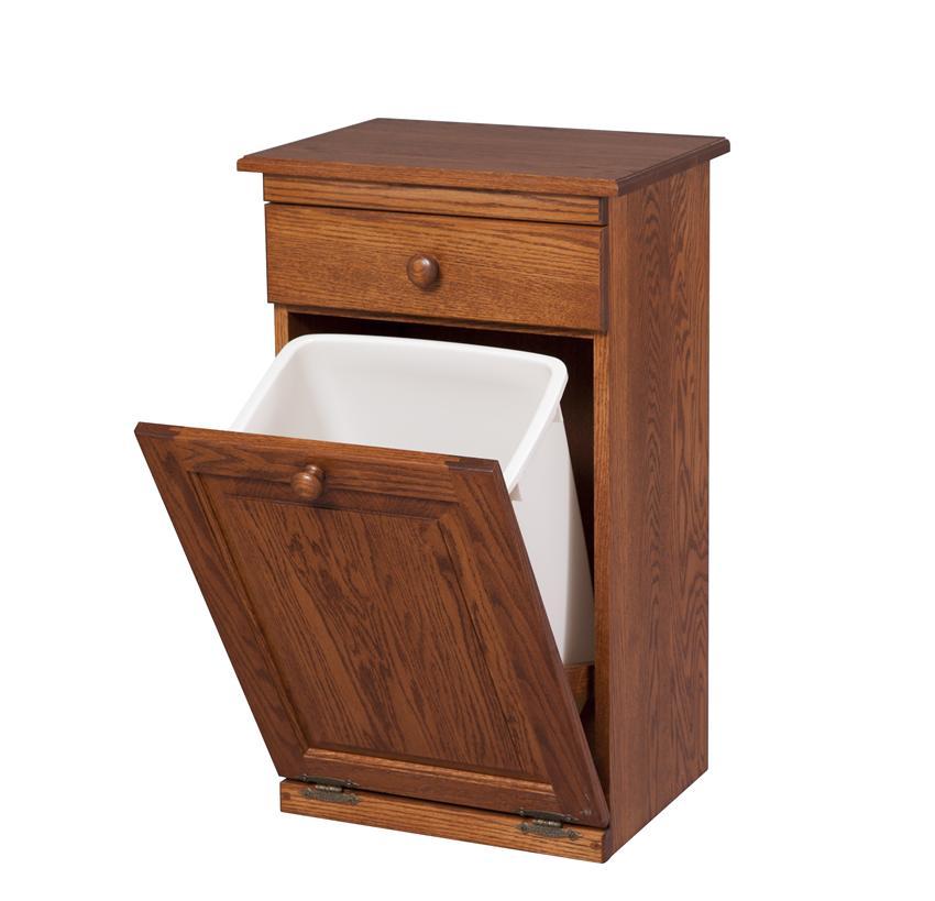 Kitchen trash can storage cabinet