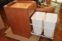 kitchen trash cans in cabinet | Roselawnlutheran