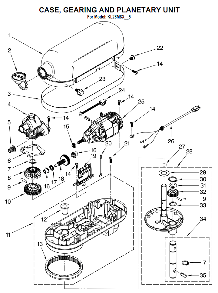 Kitchenaid Stand Mixer Repair Manual Pdf