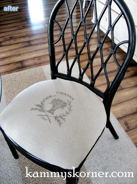 Rattan kitchen table