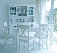 Quality white kitchen table sets