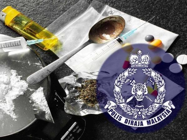 Edar dadah di kawasan kubur