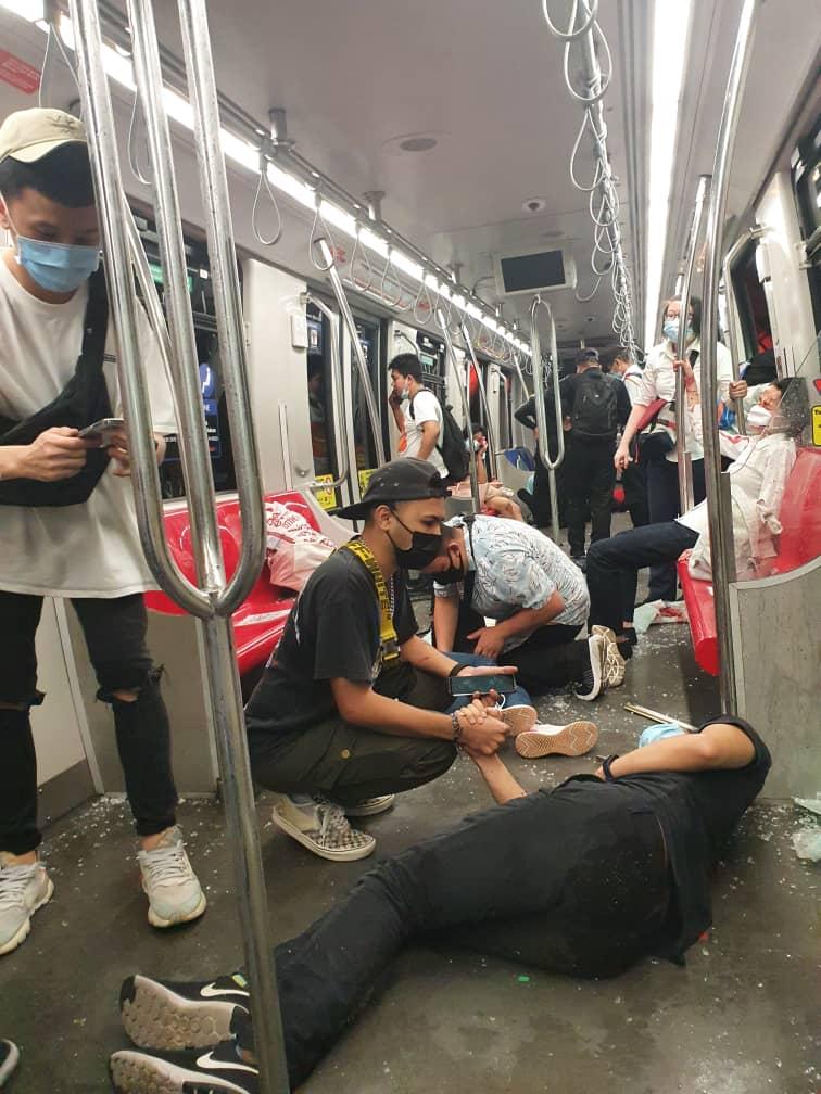 Tren lrt bertembung dari Klcc ke Dang Wangi [VIDEO]