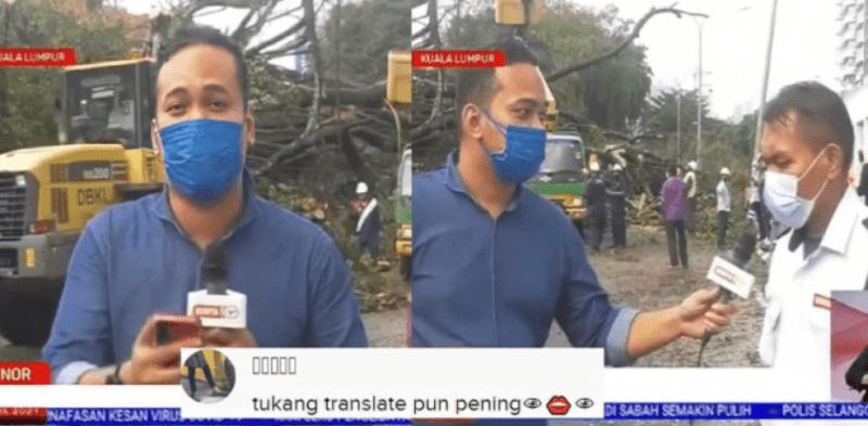 """""""Tukang Translate Pun Pening"""" - Lelaki Ini Gugup Ketika Di Temu Ramah Wartawan [VIDEO]"""