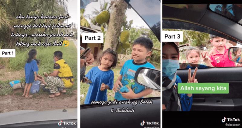 [VIDEO] Gigih Dua Beradik Jual Mangga Tepi Jalan. Demi Bantu Ibu Cari Duit, Ramai Sebak