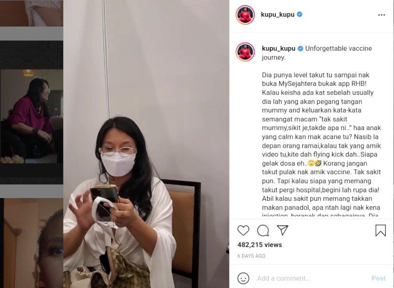 Amy Search Cucuk Vaksin Sambil Nyanyi Lagu Fantasia Bulan Madu