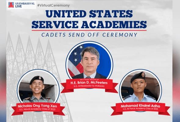 Dua kadet Malaysia dipilih sertai akademi tentera AS