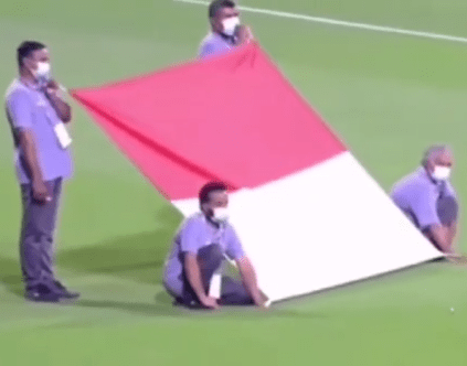 #KitaSerumpun - Lagu Negaraku Dimainkan Ketika Perlawanan Kelayakan Piala Dunia 2022 Indonesia Vs UEA! [VIDEO]