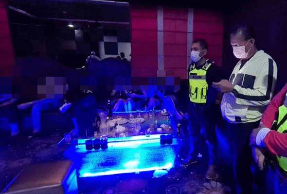 Leka sambut hari jadi di pusat hiburan, 21 individu ditahan ingkar PKP