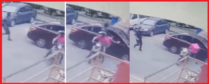 [VIDEO] 'Rider' Foodpanda Sekali Lagi Muncul Hero, Kali Ini Bantu Polis Tangkap Perompak Di Puji Netizen