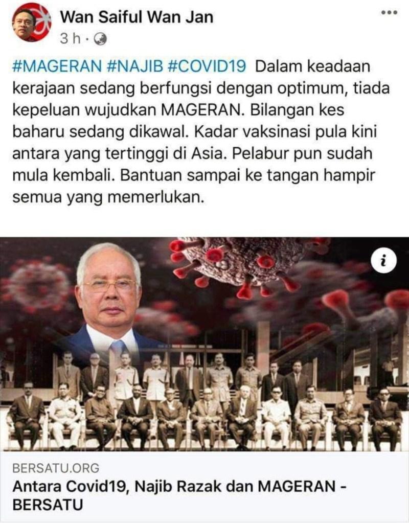 Wan Saiful 'kena' dengan Najib