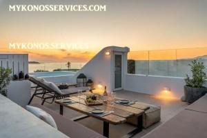 Villa D Angelo Sunset Penthouse by the wind mills - mykonos services - rent villa mykonos 300