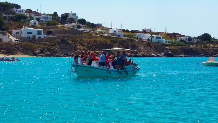 Mykonos water taxi boat