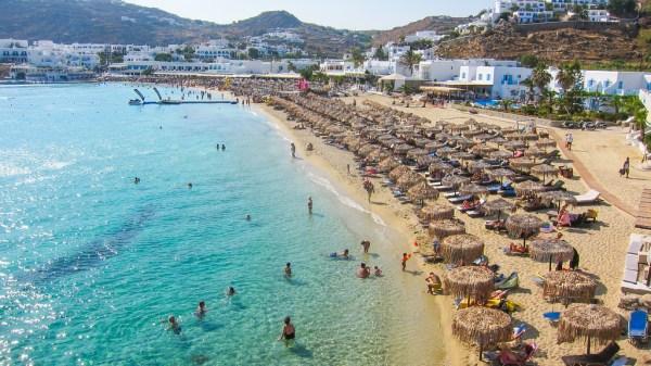 Platis Gialos beach in Mykonos island, Greece - Mykonos Traveller