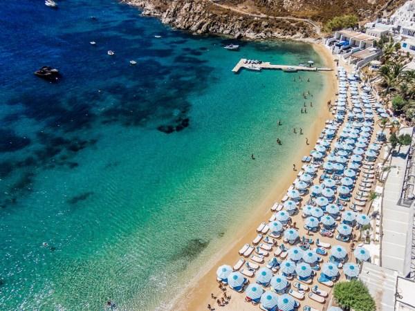 Psarou Beach in Mykonos island, Greece - Mykonos Traveller