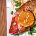 Roasted Whole Snapper w Apricot Lemon Glaze