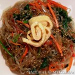 Vegetarian Japchae 잡채 (Korean Glass Noodles w Vegetables)