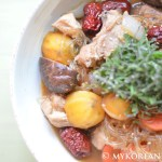 Andong Jjimdak 안동 찜닭 (Spicy Braised Chicken w Vegetables)