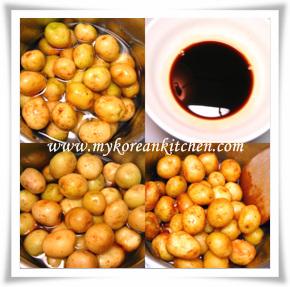 braised baby potatoes