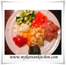 Japanese chicken curry ingredients