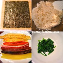 kimbab ingredients 3