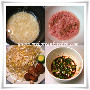 Ingredients for Bean Sprout Rice