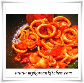 stir fried calamary