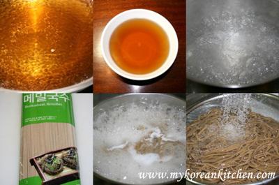 Buckwheat Noodles (Memil Guksu in Korean) cooking
