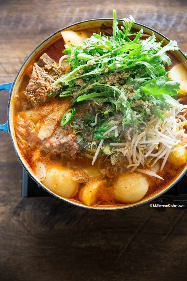 Gamjatang (Pork Bone Soup) | MyKoreanKitchen.com