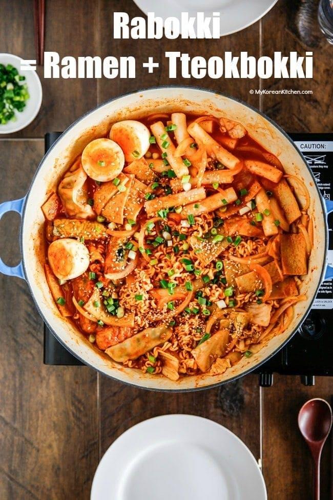 Mukbang Itu Apa : mukbang, Rabokki, Ramen, Tteokbokki, Korean, Kitchen