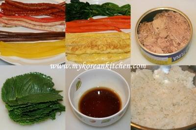Tuna Kimbap Ingredients