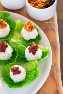 Korean rice lettuce wraps | MyKoreanKitchen.com