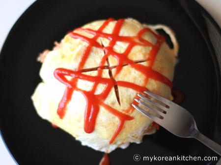 Omelet Rice (Omurice) Recipe   MyKoreanKitchen.com