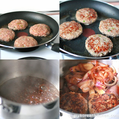 Simmered Meat Patties in Teriyaki like sauce - Jangsanjeok4